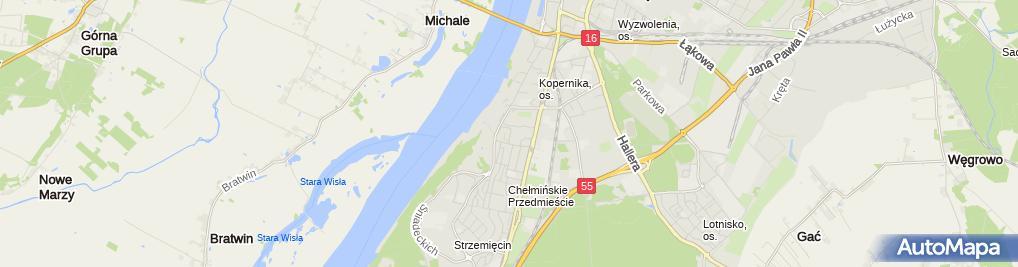 Zdjęcie satelitarne Przedsiębiorstwo Usługowo Handlowe Elektro-Remont Stanisław Janik