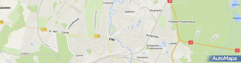Zdjęcie satelitarne Przedsiębiorstwo Usługowo Handlowe Jag Bet Jadwiga Gorlaszyńska Andrzej Gorlaszyński