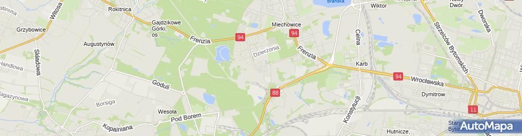 Zdjęcie satelitarne Przedsiębiorstwo Usługowo-Handlowe Stanisław Jórczak