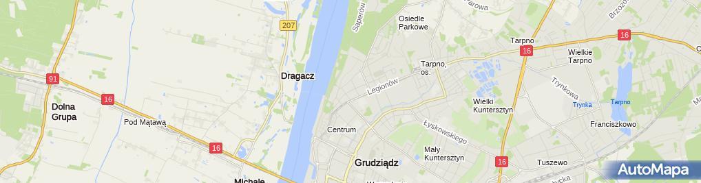 Zdjęcie satelitarne Przedsiębiorstwo Usługowo Handlowe