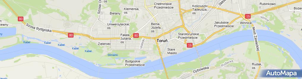 Zdjęcie satelitarne Przemysław Pomaski - Działalność Gospodarcza