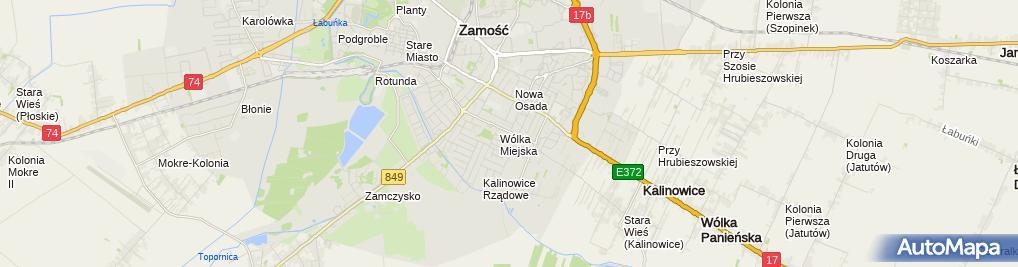Zdjęcie satelitarne Qfajka PRO-INWEST Przemysław Kuzdra