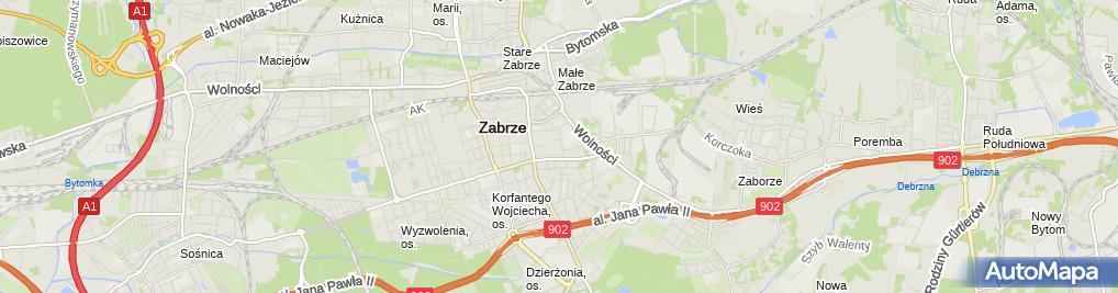Zdjęcie satelitarne Ralfex Systemy Podłogowe Rafał Peciak