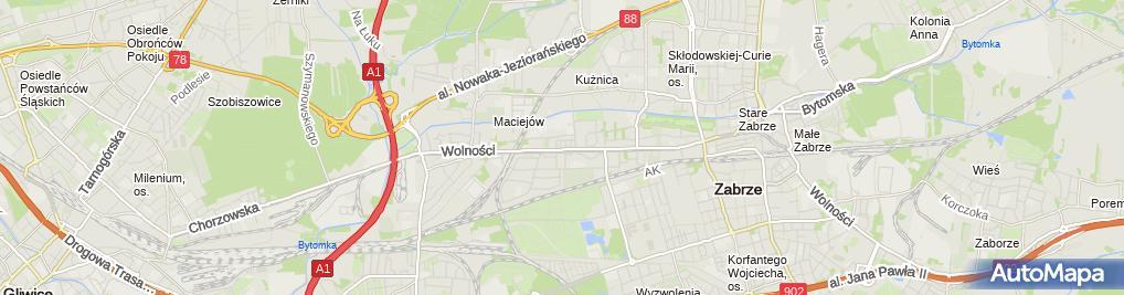 Zdjęcie satelitarne Roboty Ogólno Budowlane Lniakowie Mieczysław Lniak Rafał Lniak