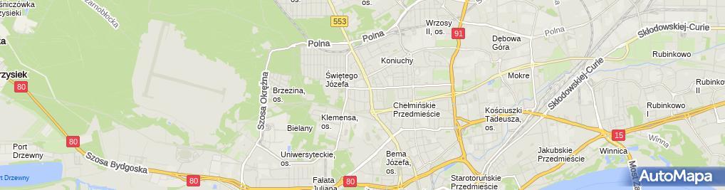 Zdjęcie satelitarne Rzymyszkiewicz Włodzimierz Drozakor Zakład Drogowy