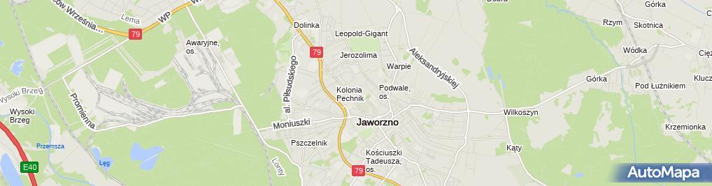 Zdjęcie satelitarne Skawiński Wiesław Przedsiębiorstwo Robót Instalacyjno-Inżynieryj