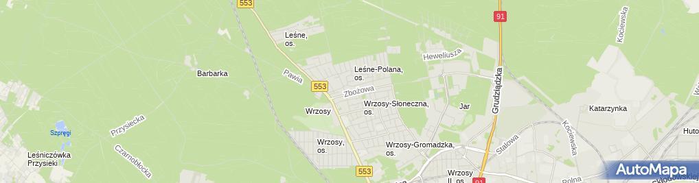 Zdjęcie satelitarne Sławomir Przyziółkowski Brukbud, Stihl Autoryzowany Dealer Sprzedaż-Serwis-Wynajem