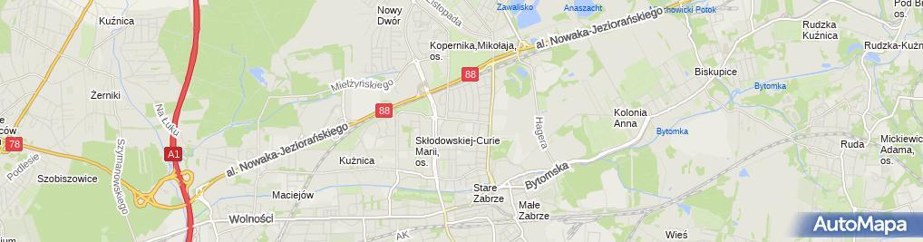 Zdjęcie satelitarne Spółka Mieszkaniowa Kamionka