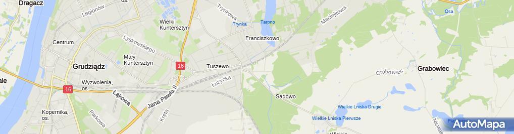Zdjęcie satelitarne Sylwia GromadzińskaELEKTROINSTAL