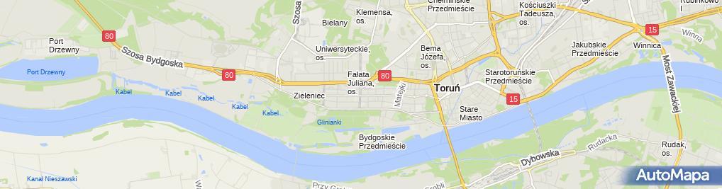 Zdjęcie satelitarne Szymborski Daniel Firma Usługowo Handlowo Produkcyjna Elektromus