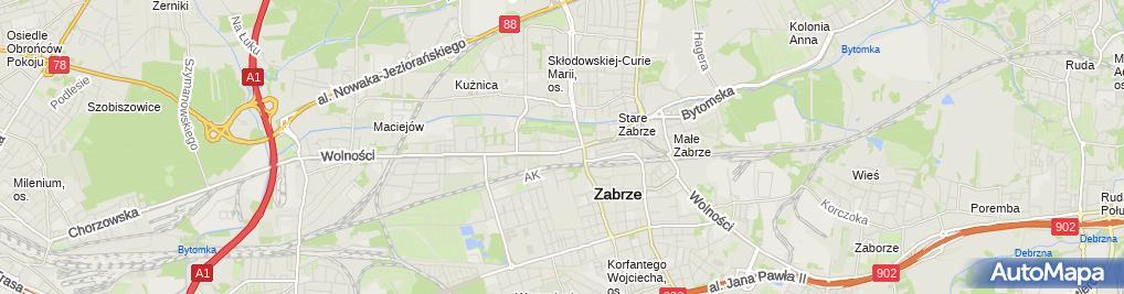 Zdjęcie satelitarne Telkor Śląsk Dudziak Piotr Razowski Jan
