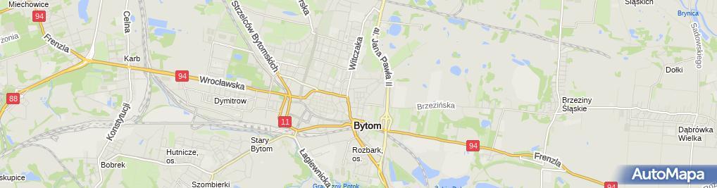 Zdjęcie satelitarne Trackway Mateusz Łysy