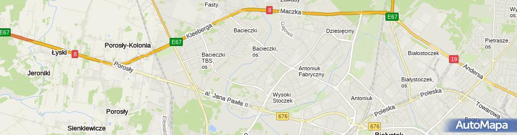 Zdjęcie satelitarne Usługi Budowlane Suche Tynki Piotr Krzysztof Wróblewski