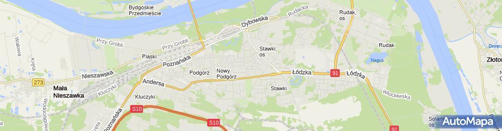 Zdjęcie satelitarne Wałecki Tomasz Pro Inwest Realizacja Inwestycji Budowlanych