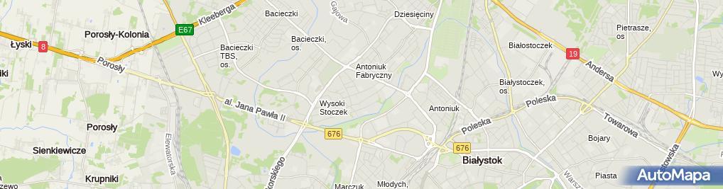 Zdjęcie satelitarne Wemsbud Ewa Wałejnis Mariusz Leon Wałejnis