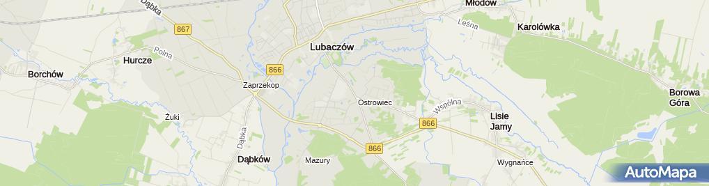 Zdjęcie satelitarne Wyrób Siatek Ogrodzeniowych Łukasz Maćko