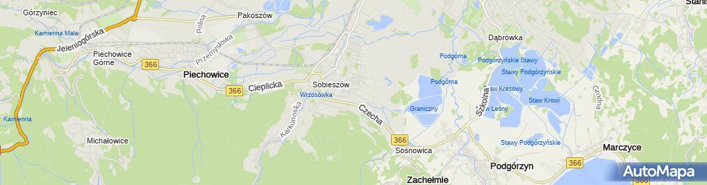 Zdjęcie satelitarne Wysoczański Jan Firma - Wysoczański