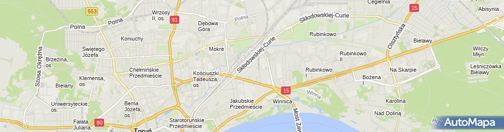 Zdjęcie satelitarne Zakł Dekarsko Blacharski Jaworski Ryszard Jeliński Mariusz