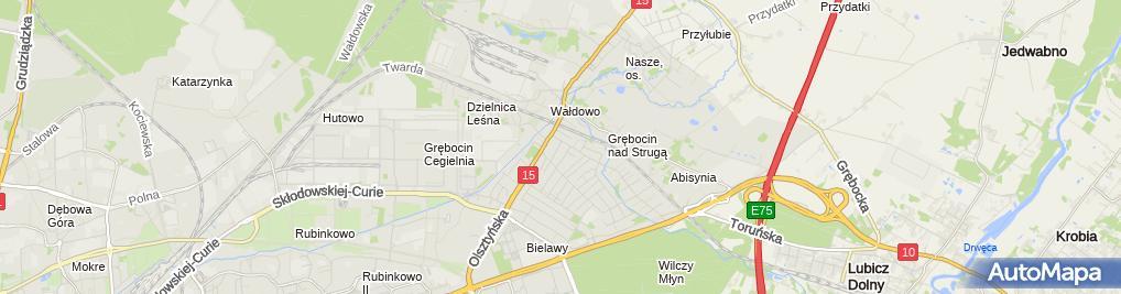 Zdjęcie satelitarne Zakład Blacharko Dekarski