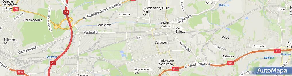 Zdjęcie satelitarne Zakład Budownictwa Ogólnego Budgam Jan Gałuszkiewicz