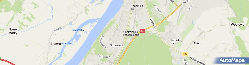 Zdjęcie satelitarne Zakład Elektroinstalacyjny - Pomiary Ochronne Piotr Liedtke