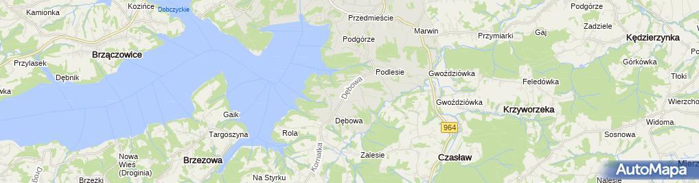 Zdjęcie satelitarne Zakład Handlowo Usługowy Arsel
