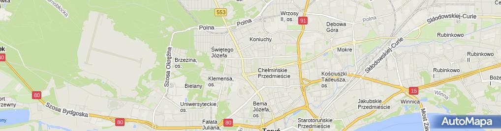 Zdjęcie satelitarne Zakład Instalacji Anten TV Sat Jakubowski Jacek Reszke Krzysztof