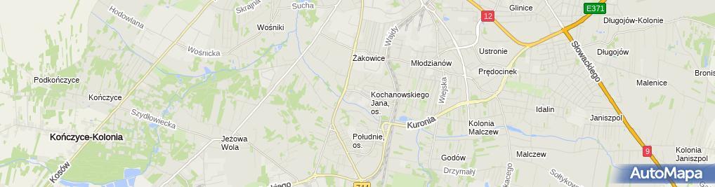 Zdjęcie satelitarne Zakład Instalacji Sanitarnych i Sieci Gazowych Roman Janowski