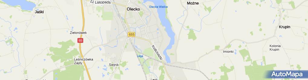 Zdjęcie satelitarne Zakład Instalacyjno Handlowy Dabo