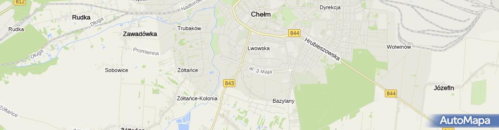 Zdjęcie satelitarne Zaklad Remontowo-Budowlany i Nadzaru Budowlanego Grabczak Andrzej