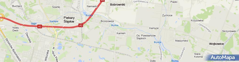 Zdjęcie satelitarne Zakład Remontowo - Budowlany i Usługi Transportowe Koryciorz Henryk