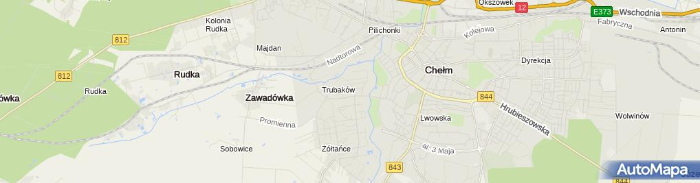Zdjęcie satelitarne Zakład Remontowo-Budowlany Pękała Mariusz