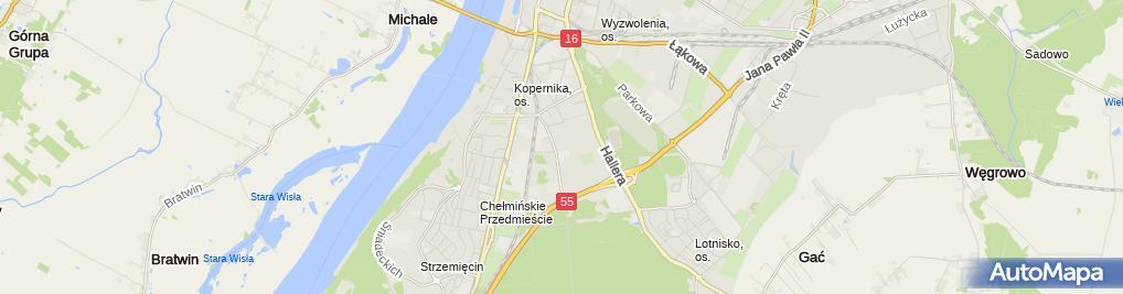 Zdjęcie satelitarne Zakład Remontowo Budowlany Trochowski Henryk Gronowski Janusz