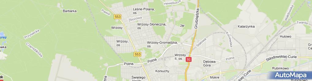 Zdjęcie satelitarne Zakład Serwisowy Instalacji Technicznych Instal Serwis Bartosińska Macukiewicz Katarzyna Prostojanek Aneta