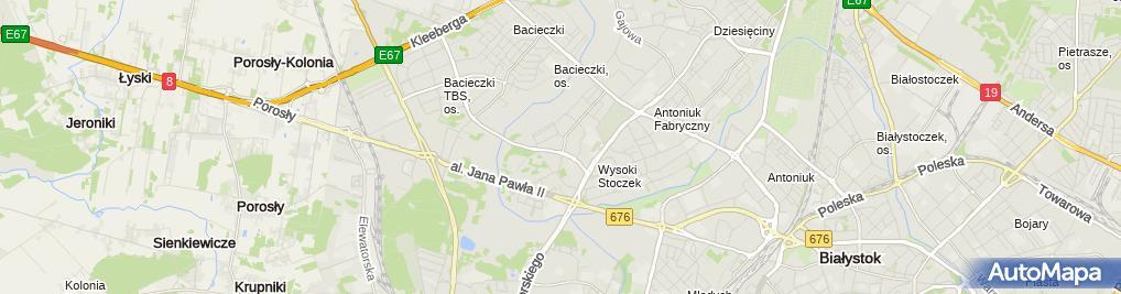 Zdjęcie satelitarne Zakład Usług Budowlanych Ekobis Andrzej Milewski