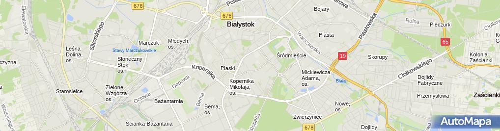 Zdjęcie satelitarne Zakład Usługowo Budowlany Dar Bud