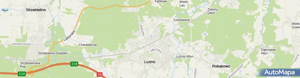 Zdjęcie satelitarne Zakład Usługowo - Handlowy Władysław Kuchta