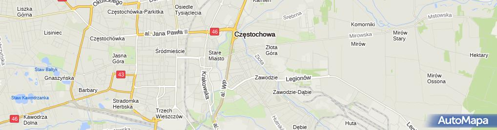 Zdjęcie satelitarne Zakład Usługowy Płytkarsko Posadzkarski