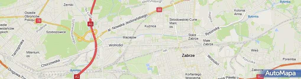Zdjęcie satelitarne ZRB Remak Grzegorz Kaptór