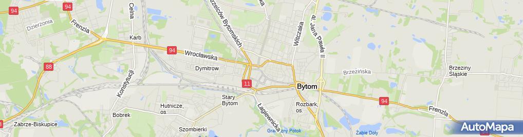 Zdjęcie satelitarne Bytom - Sklep odzieżowy