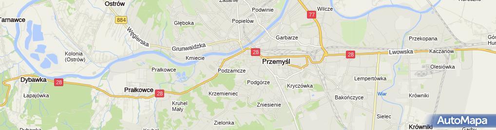 Zdjęcie satelitarne Caritas Archidiecezji Przemyskiej
