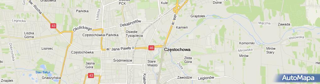 Zdjęcie satelitarne Castorama Częstochowa