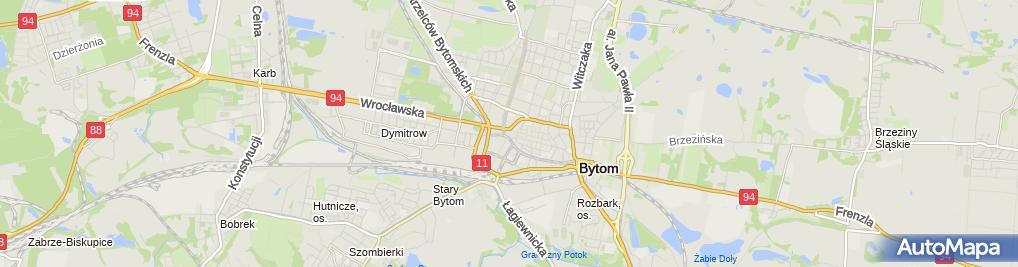 Zdjęcie satelitarne Agora Bytom