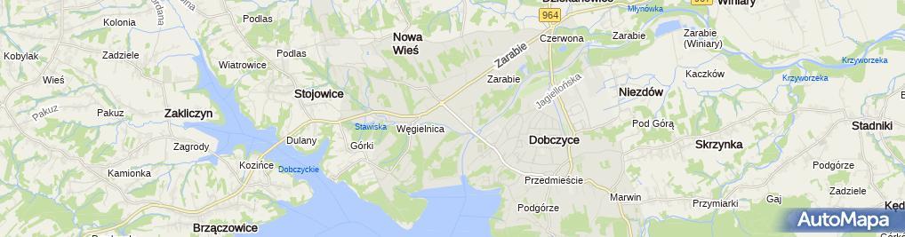 Zdjęcie satelitarne Galeria Dobczyce