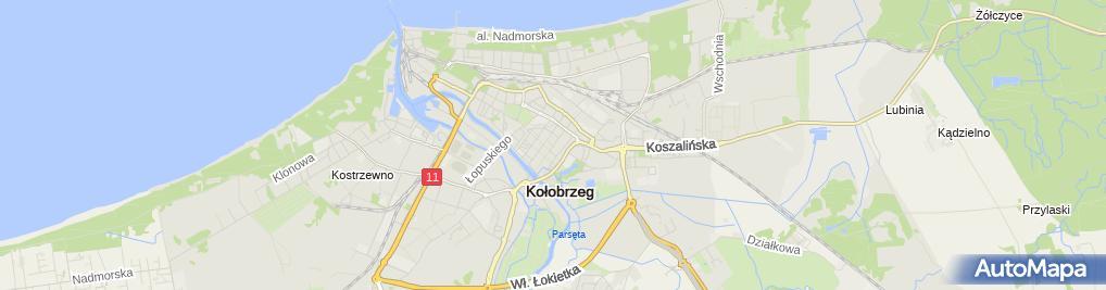 Zdjęcie satelitarne Galeria Hosso Kołobrzeg I