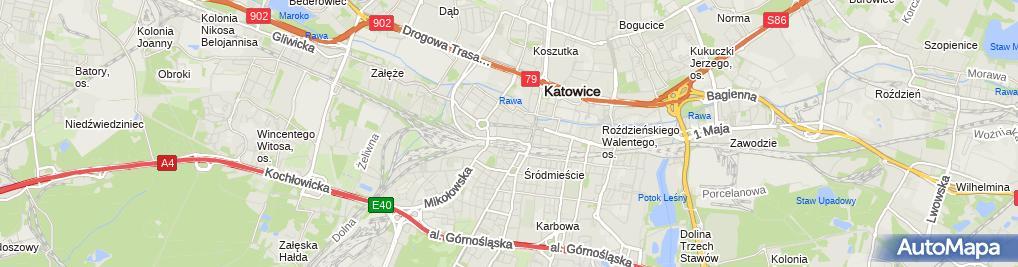 Zdjęcie satelitarne Galeria Katowicka