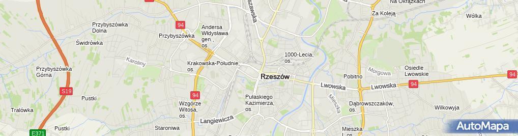 Zdjęcie satelitarne Galeria Rzeszów