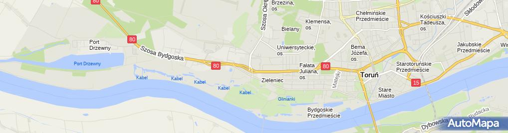 Zdjęcie satelitarne Toruń Plaza