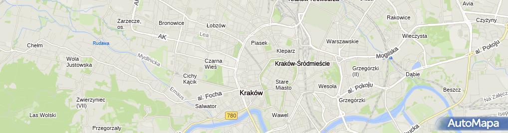 Zdjęcie satelitarne Małopolski Ogród Sztuki