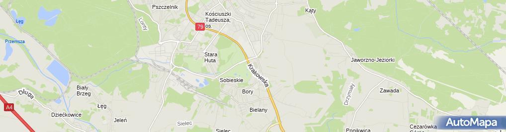Zdjęcie satelitarne Miejskie Centrum Kultury i Sportu w Jaworznie